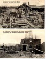 B 37. Bruxelles: Construction Des Moulins Ricquier 2 Cpa - Laeken