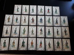 30 Cartes Historiques Des Uniformes Des Régiments De Chasseurs à Cheval - Documenten