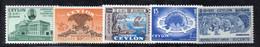 Y2223 - SRI LANKA CEYLON  , 5 Valori Con Gomma Integra  ***  MNH - Sri Lanka (Ceylon) (1948-...)