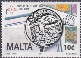 Malta 1991, 853,  MNH **, 25 Jahre Philatelistische Gesellschaft. - Malta