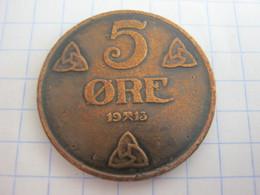 Norway 5 Ore 1913 - Norway
