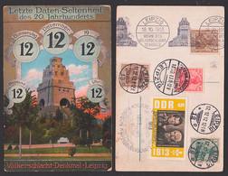 Leipzig Völkerschlachtdenkmal, Internationale Baufach-Ausstellung Zahlenfolgen, Ak Daten-Seltenheit 12. 12.12.12.12.12 - Machine Stamps (ATM)