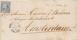 Nederland - 1872 - 5 Cent Willem III, 3e Emissie Op Cover Van L NIEUWE PEKEL-A Via TL/Punt Winschoten Naar Amsterdam - Covers & Documents