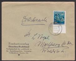 Friedrich Engels 5 Pf. DDR 485A Dresden 7.11.55 (Ausgabetag) Drucksache - Storia Postale