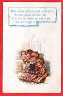 WORLD WAR ONE  WOMEN AT WAR   WHEN MOTHER WENT AND JOINED THE WAAC'S    BAMFORTH HUMOUR Pu 1915 - Humorísticas