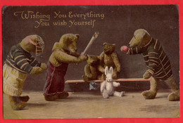 TEDDY BEAR  OURS EN PELUCHE       KENDO  MARTIAL ARTS  ARTS MARTIAUX    DRESSED ANIMALS  ANIMAUX HABILLE Pu 1913 - Games & Toys