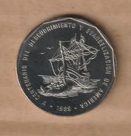 DOMINICANA  1 Peso 1989  Níquel      KM# 74 - Dominicana