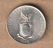 FILIPINAS 10 Centavos  1945 Silver (.750) • 2 G • ⌀ 17 Mm KM# 181, Schön# 19 - Philippines