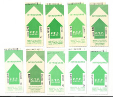 Lotto N. 9 Biglietti C.T.P. Napoli Verde Per Linee Extraurbane Diversi Per Matricola (50) Come Foto Compagnia Trasporti - Unclassified
