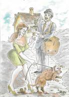Postes - Poste - Le Facteur Et Le Chien - Illustrateur Méderic - Humour Humoristique - - Poste & Postini