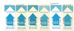 Lotto N. 6 Biglietti C.T.P. Napoli Azzurro Per Linee Extraurbane Diversi Per Matricola (51)Come Foto Compagnia Trasporti - Unclassified