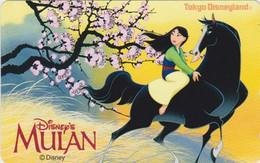 Télécarte JAPON / 110-203285 - DISNEY - FILM - MULAN Cheval Horse - MOVIE JAPAN Free Phonecard - Disney