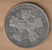 GIBRALTAR 1 Crown 1993 -  Dependant Territories Conference-    Copper-nickel • 28.28 G • ⌀ 38.6 Mm KM# 200 - Gibraltar