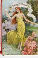 1 Carnet Booklet Calendrier  1942  Donne In Fiore Perfumed Almanac  Pietro Di Matteo NAPOLI  6x9 Cm - Small : ...-1900