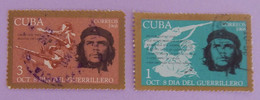 """CUBA YT 1221/1222 OBLITERES """"CHE GUEVARA"""" ANNÉE 1968 - Used Stamps"""