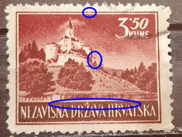 LANDSCAPES - 3.50 K-TRAKOŠČAN CASTLE-ERROR-NDH-CROATIA - 1943 - Croatia