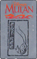 Télécarte ARGENT JAPON / 110-016 - DISNEY - FILM - MULAN - MOVIE JAPAN SILVER Phonecard - Disney