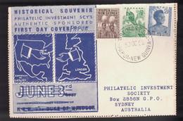 PAPUA NEW GUINEA Scott # 122-4 On FDC - Philatelic Investment Society - Papua New Guinea