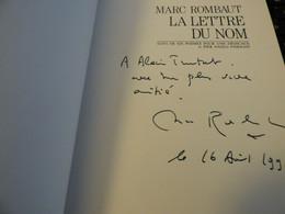 Lot MARC ROMBAUT Avec Envoi ANAMORPHOSES Et Pier Paolo Pasolini - Autographed