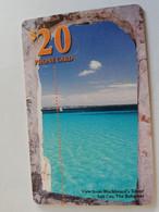 BAHAMAS $20,- CHIPCARD   VIEW FROM BLACKBEARDS TOWER SALT CAY BAHAMAS  **5089** - Bahamas