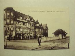 41069 - DUINBERGEN SUR MER - STATION DU TRAM ET HOTEL DE LA STATION -  ZIE 2 FOTO'S - Knokke