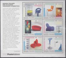 ITALIEN  Block 29, Postfrisch **, Italienisches Design (II): Einrichtungsgegenstände, 2001 - Hojas Bloque