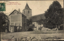 CPA Vernon Eure, Douains, Bureau De La Poste Et Église - Sonstige Gemeinden