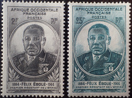 R2452/674 - 1945 - GOUVERNEUR-GENERAL EBOUE - COLONIES FR. - A.O.F. - N°2 à 3 NEUFS* - Unused Stamps