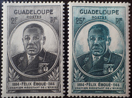 R2452/677 - 1945 - GOUVERNEUR-GENERAL EBOUE - COLONIES FR. - GUADELOUPE - N°176 à 177 NEUFS* - Unused Stamps