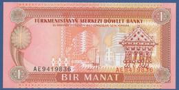 TURKMENISTAN - P.1 – 1 MANAT 1993   UNC  Prefix AE - Turkmenistan