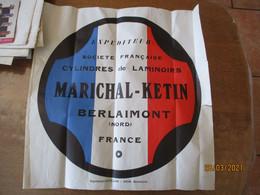BERLAIMONT  MARICHAL,KETIN  SOCIETE FRANCAISE DES CYLINDRES DE LAMINOIRS AFFICHE EXPEDITION 50cm/49cm - Affiches