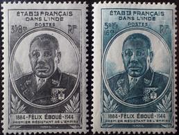 R2452/679 - 1945 - GOUVERNEUR-GENERAL EBOUE - COLONIES FR. - INDE - N°234 à 235 NEUFS* - Unused Stamps