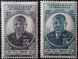 R2452/680 - 1945 - GOUVERNEUR-GENERAL EBOUE - COLONIES FR. - MADAGASCAR - N°298 à 299 NEUFS* - Unused Stamps