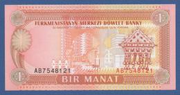 TURKMENISTAN - P.1 – 1 MANAT 1993   UNC  Prefix AB - Turkmenistan