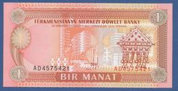 TURKMENISTAN - P.1 – 1 MANAT 1993   UNC  Prefix AD - Turkmenistan