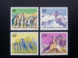 LIECHTENSTEIN MI-NR. 1000-1003 POSTFRISCH(MINT) BERGE MOUNTAIN 1990 - Nuovi