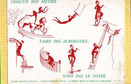 BUVARD :  Chacun Son Metier  Cirque  Acrobacie - Bank & Insurance