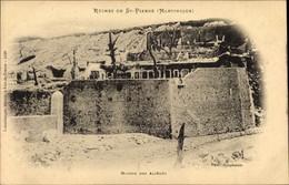 CPA St. Pierre Martinique, Ruinen Nach Dem Vulkanausbruch 1902, Maison Des Alienes - Altri