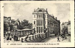CPA Paris X., Theatre De L'Ambigu Et La Rue De Bondy Vers 1835 - Other