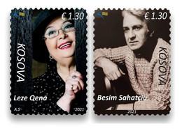 Kosovo Stamps 2021. Stage Art: Besim Sahatçiu & Leze Qena. Set MNH - Kosovo