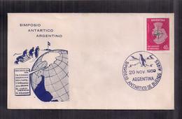 Argentina Enveloppe Symposium Sur L'Antarctique Argentin 1959 - Estaciones Científicas