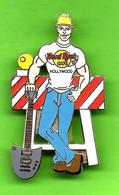Pin's  / Broche Hard Rock Café Hollywood Homme Travaux De Voirie - HRC058 - Música