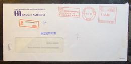 Belgium - Advertising Registered Meter Franking Cover EMA 1980 Antwerpen Bank Of America - 1980-99