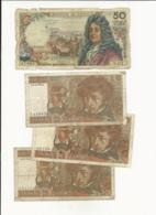 France 8 Banknotes Bad Grade - Kiloware - Banknoten