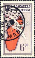MADAGASCAR - 1941/5 Yv.PA22, Maury PA70 6fr90 2nd Tirage De 1943 - Oblitéré - Luftpost