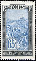 MADAGASCAR - 1922-26 - Yv.141 65c Noir & Bleu - Neuf** - Unused Stamps