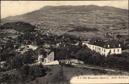 CPA Monnetier Haute Savoie, Hotel Bellevue, Bergbahn, Hotel Bellevue - Autres Communes