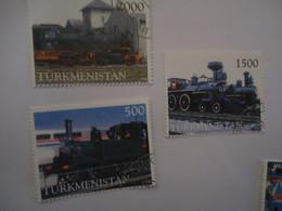 TURKMENISTAN USED STAMPS   TRAIN  TRAINS - Turkmenistan
