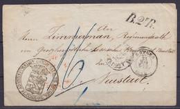 """LSC (sans Contenu) De L'Administration Communale De Bruges - Càd BRUGES /31 MAI 1858 Pour NEUSTADT - Giffe """"B.2e R."""" - P - 1858-1862 Medallions (9/12)"""