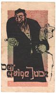 WW2 Germany Nazi Der Ewige J... Propaganda FORGERY Overprint On Genuine 20,000 Mark 1923 Banknote VF - Other
